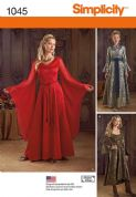 1045 Simplicity Pattern: Misses' Fantasy Costumes